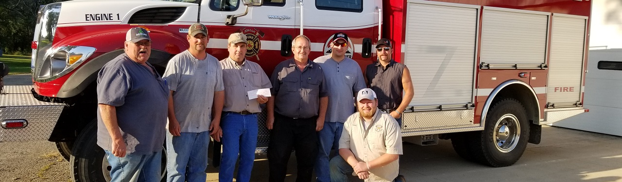 Agtegra fire department donation