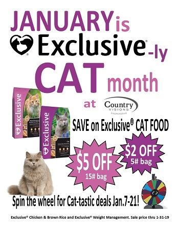 January is Exclusive®-ly CAT month!