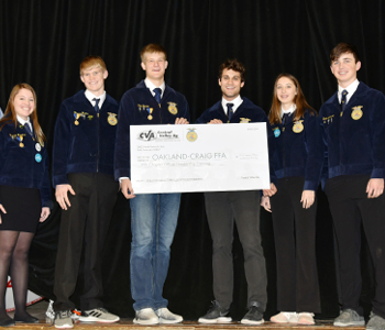 CVA awards Oakland-Craig FFA Chapter with COLT Sponsorship