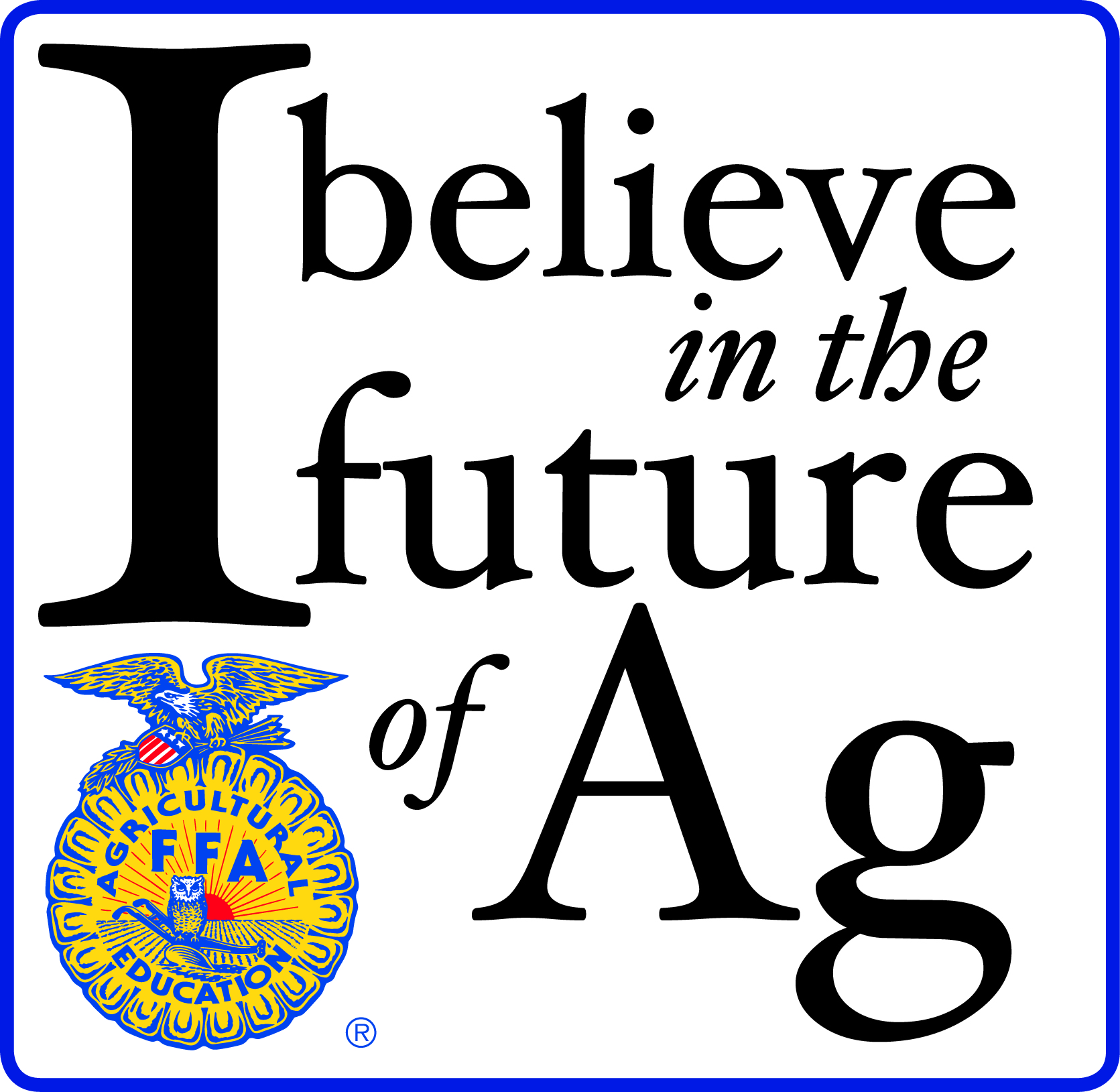 Support any Nebraska FFA Chapter with I Believe in the Future of Ag
