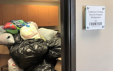 Frontier Employees Recycle 4000 Uniforms