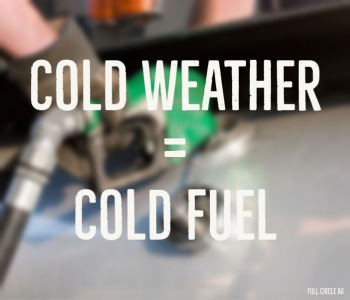 cold weather = cold fuel
