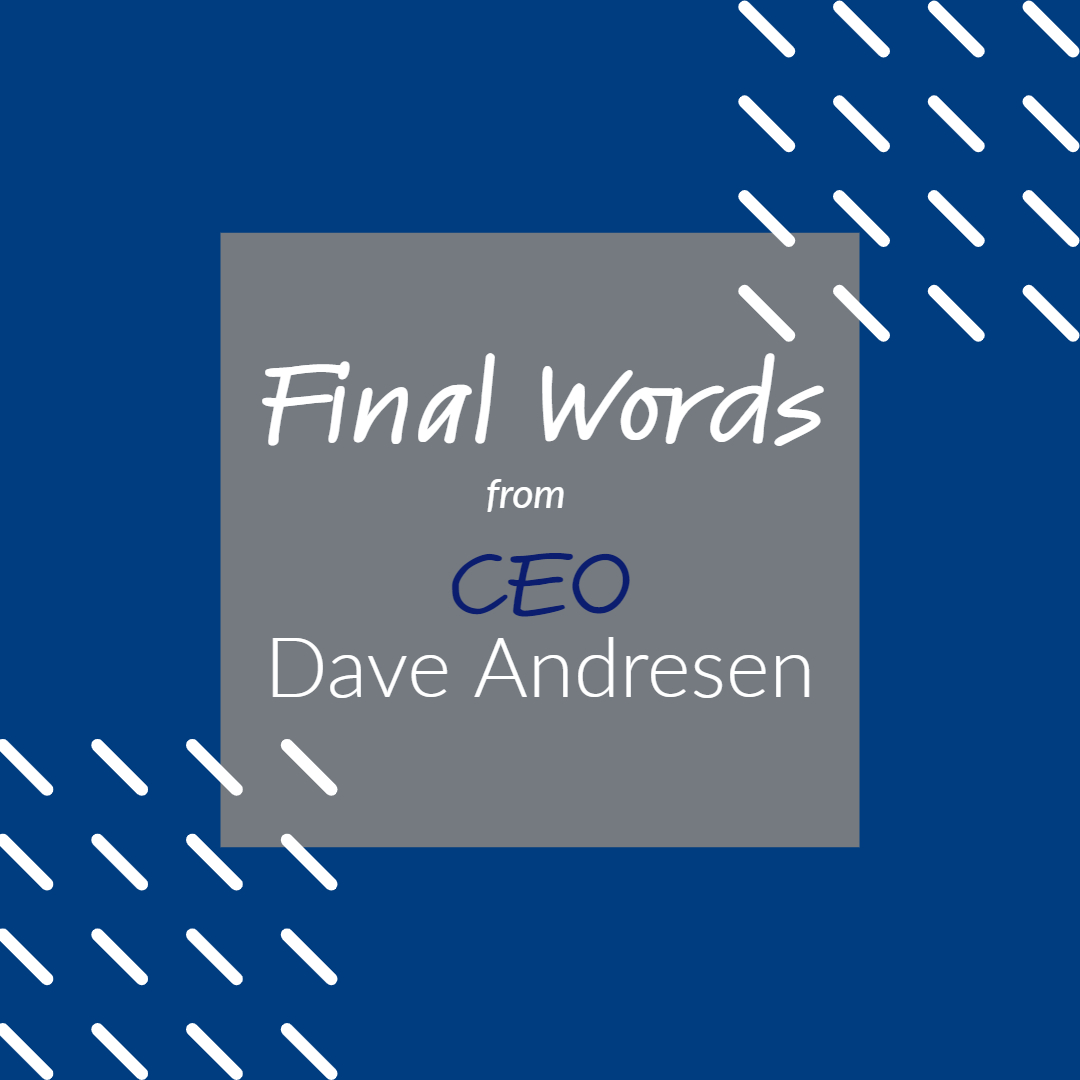 CEO, Dave Andresen, Retires