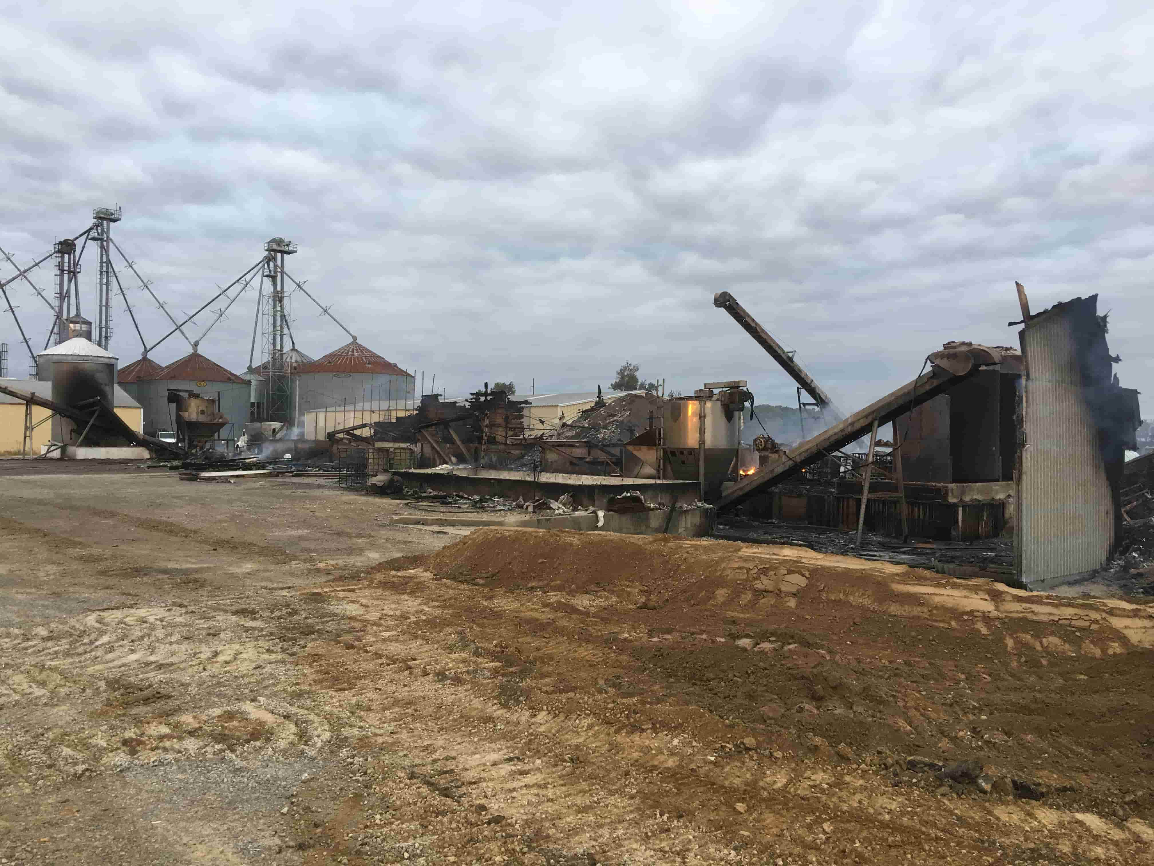 Clean Up Continues Following Hardinsburg Fertilizer Storage Facility Fire