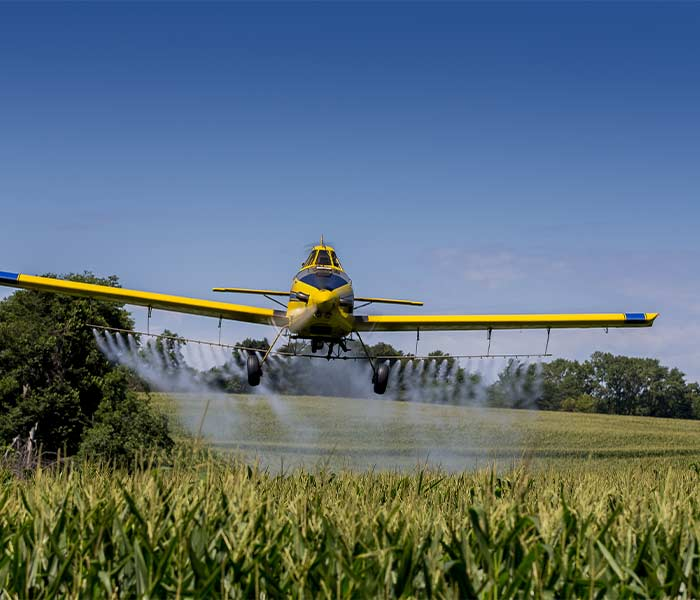 Aerial Spraying Corn