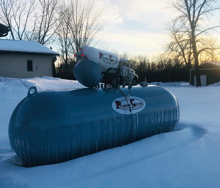 Propane Tank at Sunset