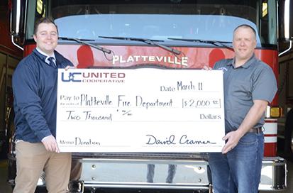 Platteville Fire Department donation