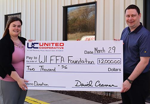 Wisconsin FFA Foundation donation
