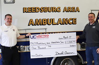 Reedsburg Area Ambulance donation